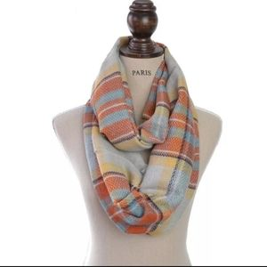 Autumn and Winter Knit Infinity Scarf